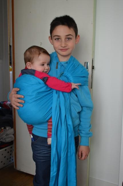 portage en sling enfant Ling Ling d'Amour