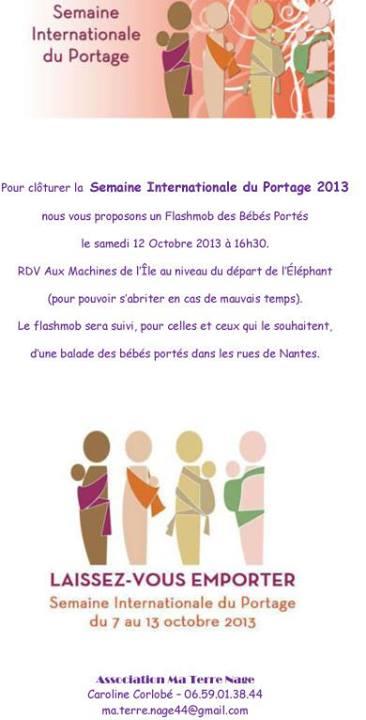 Semaine internationale du portage balade des bébés portés nantes