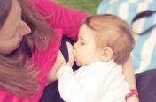 Misha qui téte semaine internationale de l'allaitement
