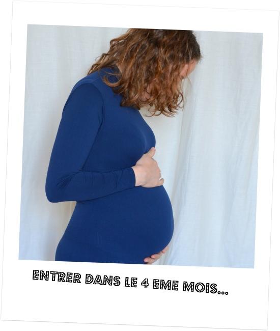 grossesse en mood kit bleu col roulé 4eme mois de grossesse 17 SA